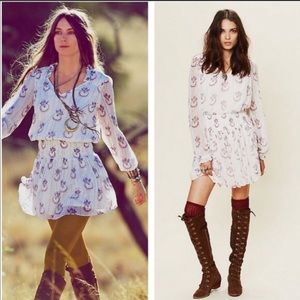 Free People Wild Horses Boho Mini Dress XS